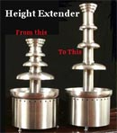 Chocolate Fountain Accessory, Height Extender Lg