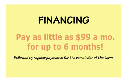 Deferred Financing Available!