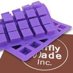 SQUARE LINED Chocolate and Candy Mold
