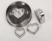 Punch Cutter Set, Heart Shape with Fluted Edge